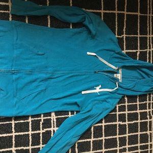 PINK blue zip up sweatshirt
